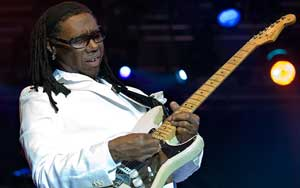 Nile Rodgers Chic guitare funk