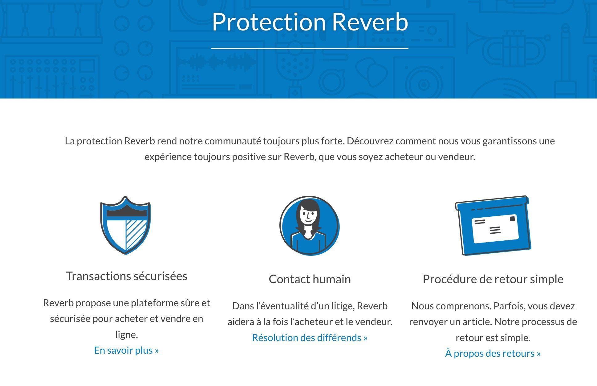 protection achat sur reverb